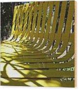 Yellow Bench Wood Print