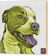 Yellow Bull Fractal Pop Art - 7773 - F - Wb Wood Print