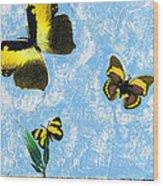 Yellow Butterflies - Spring Art By Sharon Cummings Wood Print