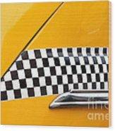 Yellow Cab - 4 Wood Print
