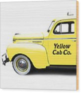 Yellow Cab Square Wood Print