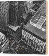 Yellow Cabs - Bird's Eye View Wood Print