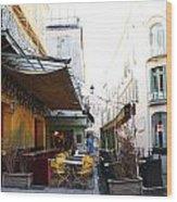 Yellow Cafe Arles France Wood Print