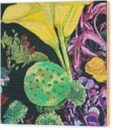 Yellow Cala Lilies Wood Print