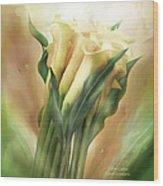 Yellow Callas Wood Print