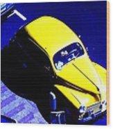 Yellow Car Wood Print