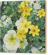 Yellow Cascade Wood Print