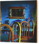 Yellow Chair Wood Print