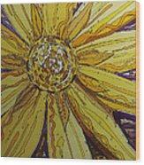 Yellow Chakra Wood Print