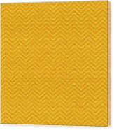 Yellow Chevron Waves Wood Print