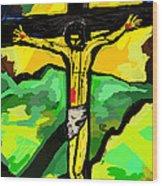 Yellow Christ  After Gauguin Wood Print