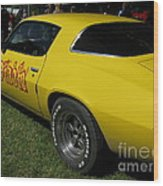 Yellow Classic Car Diablo At The Show Wood Print