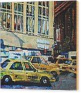 Yellow Congestion Wood Print