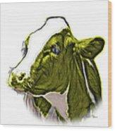 Yellow Cow Holstein - 0034 Fs Wood Print