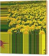 Yellow Daisies Wood Print