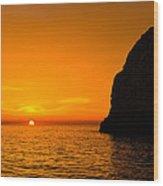 Yellow Dawn Wood Print