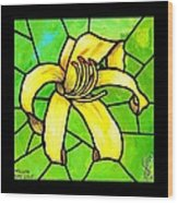 Yellow Day Lily Wood Print