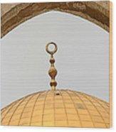 Yellow Dome Wood Print