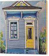 Yellow Door Shotgun  Wood Print