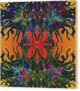 Yellow Dragon Power Wood Print
