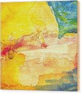 Yellow Explosion Wood Print