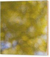 Yellow Fall Foliage Blurred Background Wood Print