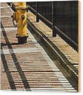 Yellow Fire Hydrant - Pittsfield - Massachusetts Wood Print
