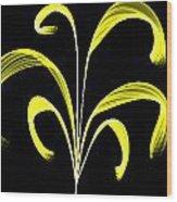 Yellow Flaring Plant Wood Print