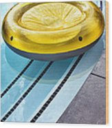 Yellow Float Palm Springs Wood Print