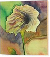 Yellow Flower Wood Print by Anais DelaVega