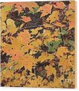 Yellow Foliage Wood Print