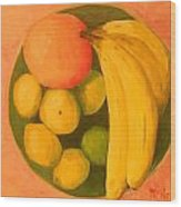 Yellow Fruit No2 Wood Print