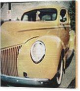 Yellow Gangsta Street Rod Wood Print