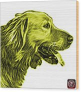 Yellow Golden Retriever - 4047 Fs Wood Print