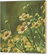 Yellow Green Wood Print