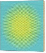 Optical Illusion - Yellow On Aqua Wood Print