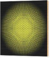 Optical Illusion - Yellow On Black Wood Print