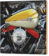 Yellow Harley Wood Print by Lainie Wrightson