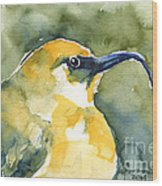 'akiapola'au - Hawaiian Yellow Honeycreeper Wood Print