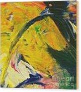 Yellow Horse Wood Print