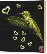 Yellow Hummingbird - 2055 F M Wood Print