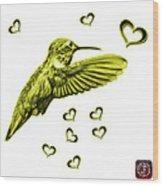 Yellow Hummingbird - 2055 F S M Wood Print