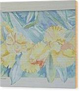 Yellow Iris' Wood Print