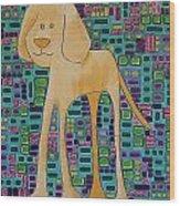 Yellow Lab Pup Wood Print