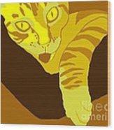Yellow Lick Wood Print