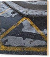 Yellow Lines 2  Wood Print