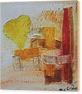 Yellow Love 3 Wood Print