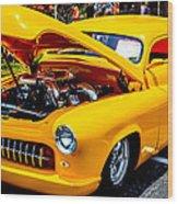 Yellow Machine Wood Print