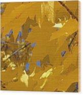Yellow Maple Leaves Wood Print