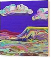 Yellow Mesa Wood Print